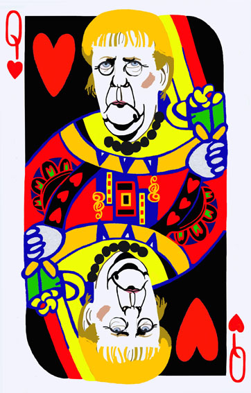 donna cuori_poker face_130 x 83 cm