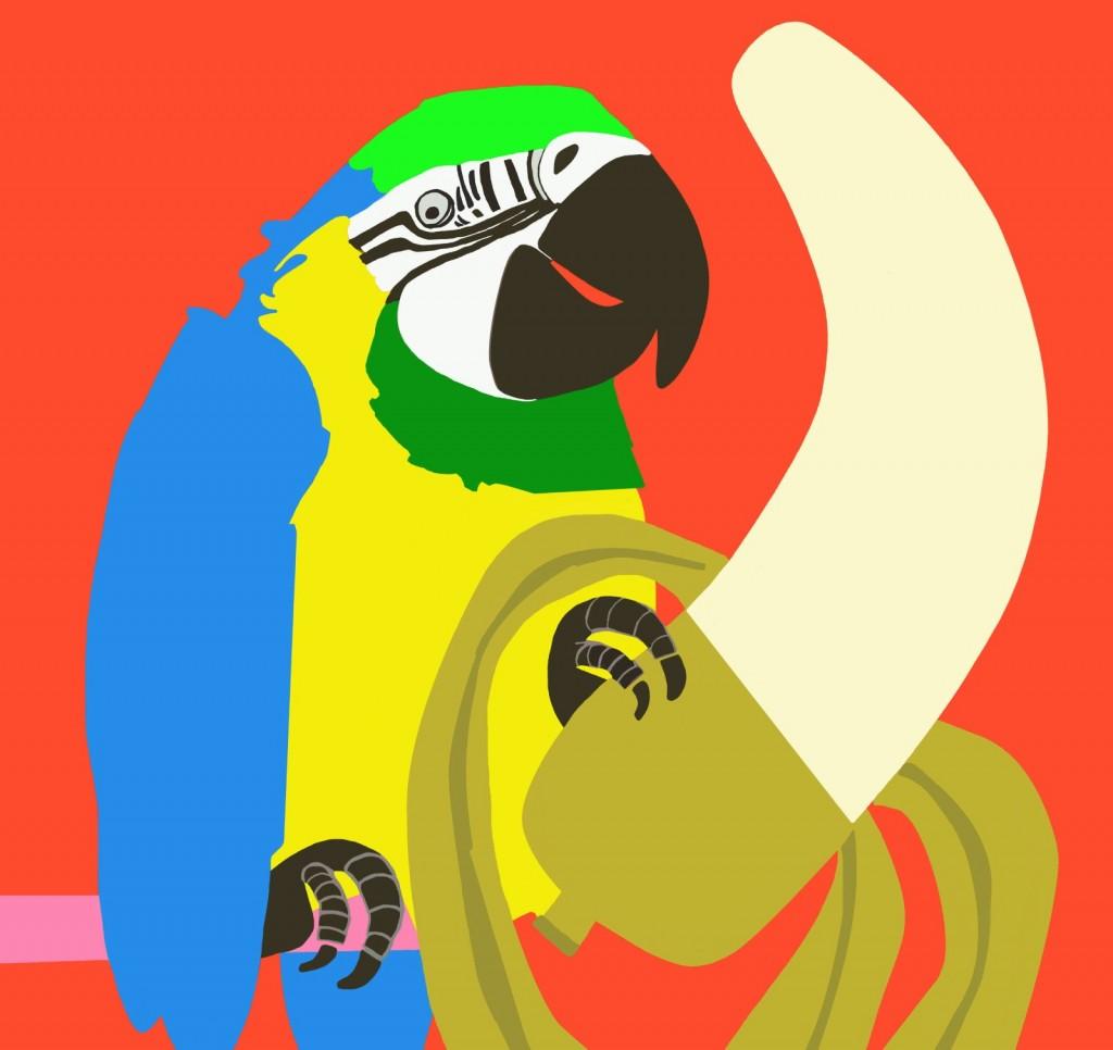 Pappagallo con banana