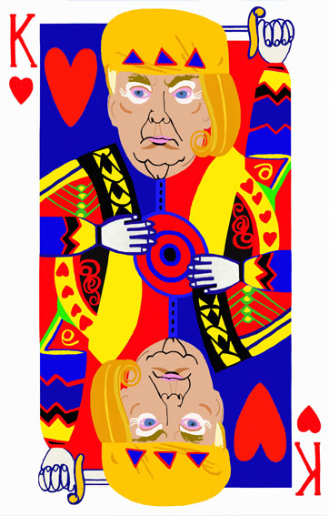 re cuori_poker face_130 x 83 cm