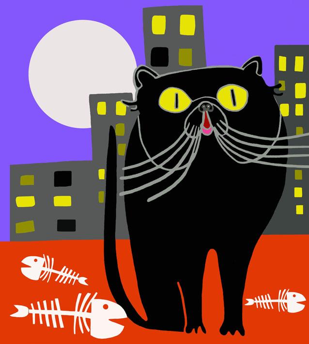 the cat insomnia part two the food_100 x 90 cm_2015_collezione privata